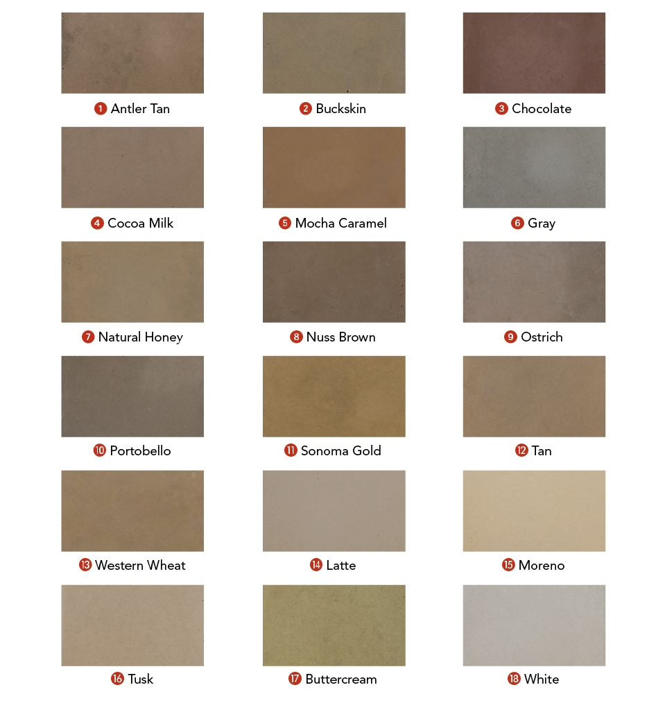 Mesa Precast | Available Standard Color Options | Color Selection